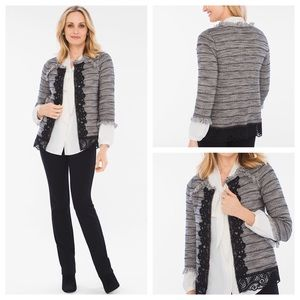 Chico's LACE TWEED CARDIGAN STYLE: 570214699